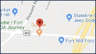 Tom Holland Law Office map of Fort Mill SC office location