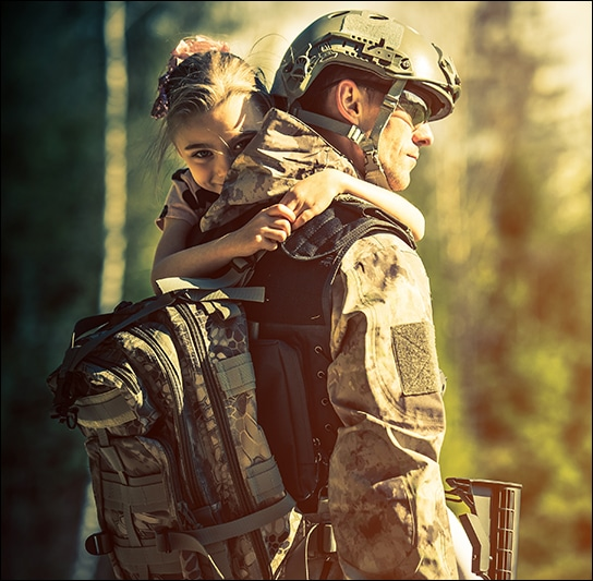 Family law matters involving members of the military