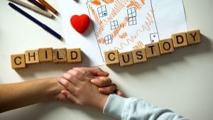 Child custody spelled out in children's blocks